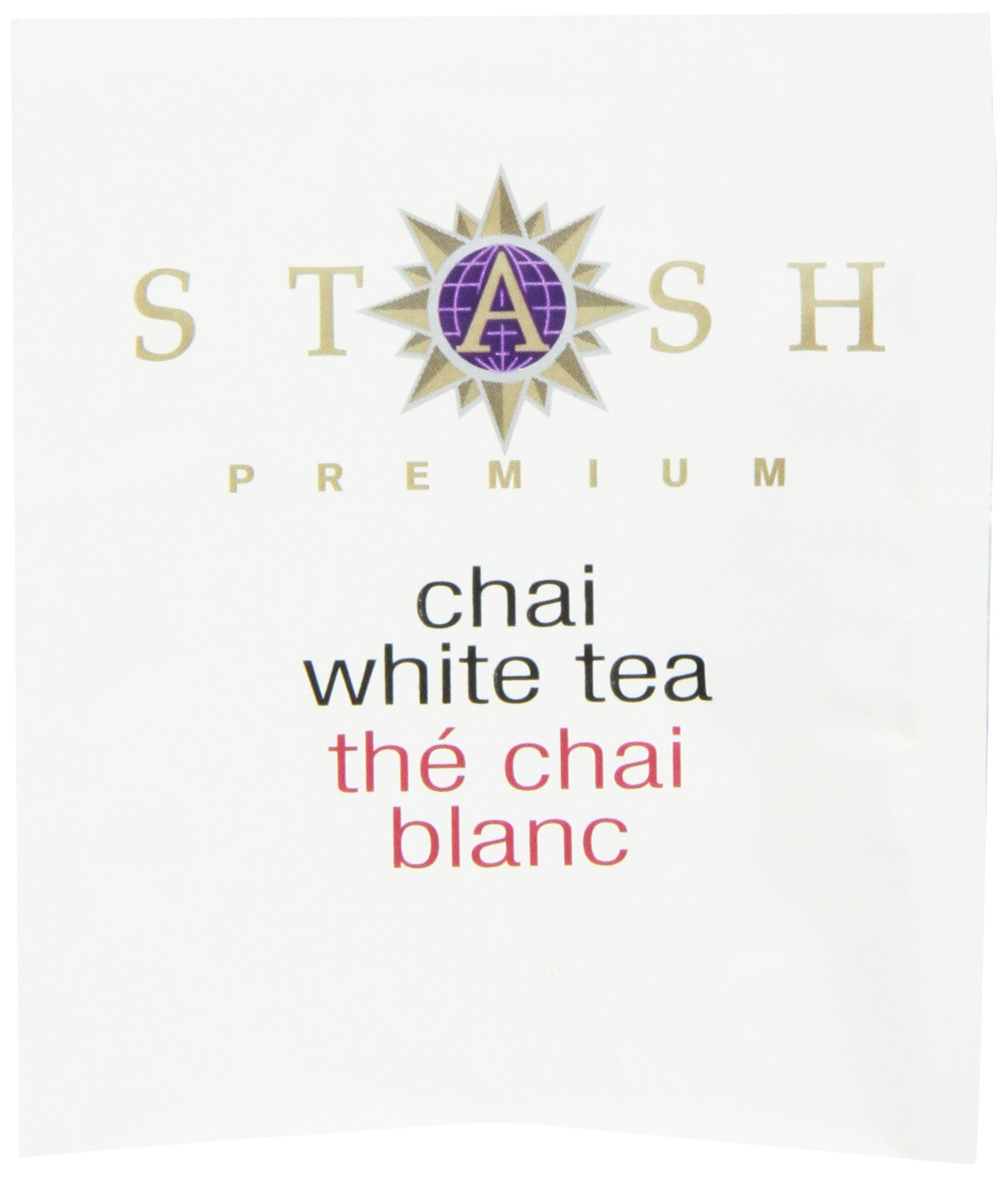 Stash Tea White Chai Tea 10 Count Tea Bags in Foil (Pack of 12) (packaging may vary) Individual Spiced White Tea Bags for Use in Teapots Mugs or Cups, Brew Hot Tea or Iced Tea