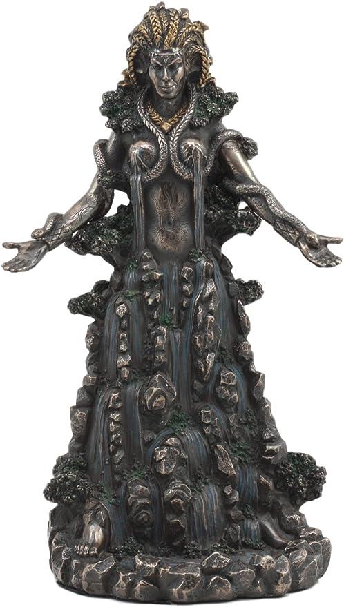 Ebros Irish Triple Goddess Danu Statue Mother Goddess Don Patron Deity Of The Land With Rivers Streams of Water Figurine Gaia Equivalent Ebros Gift