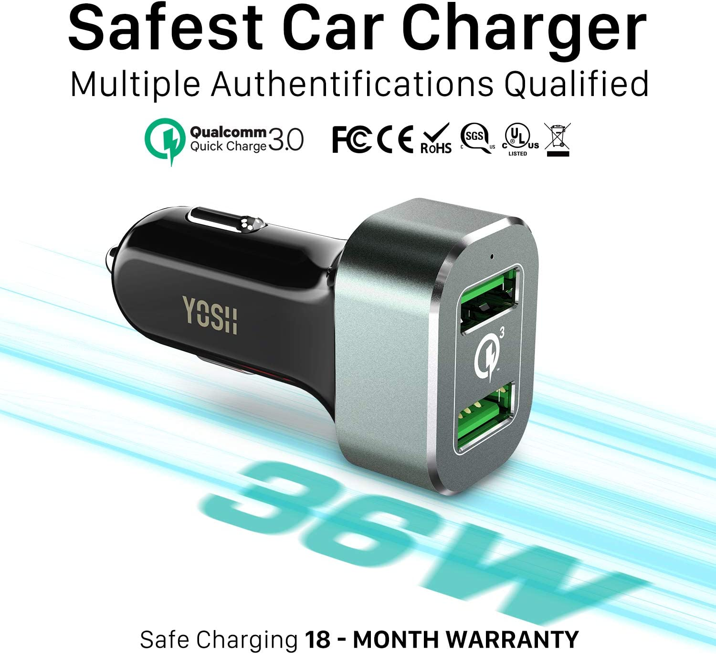 Yosh Auto Ladegerät Mit Quick Charge 3 0 Elektronik