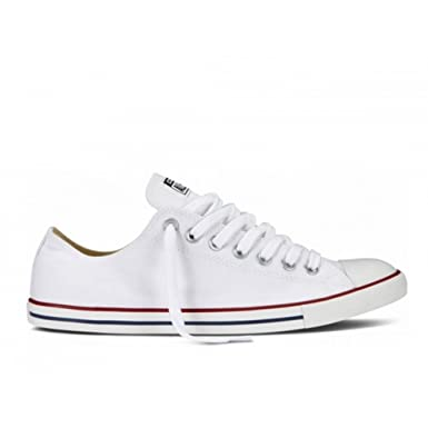 Converse All Star Lean Ox Weiß Low Top Leinen Schuhe (6.5 UK ...