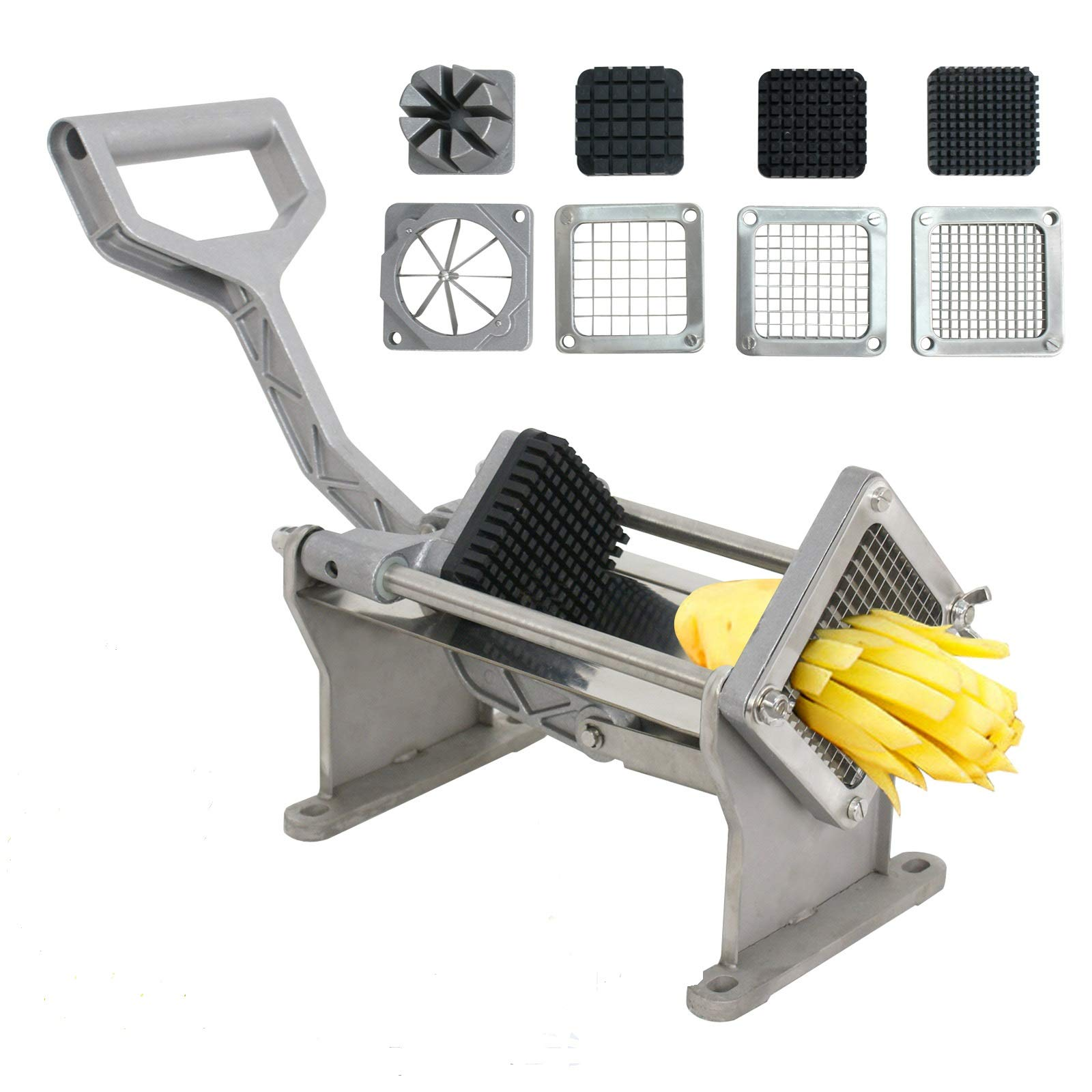 ZENY Heavy Duty French Fry Potato Cutter Fruit Vegetable Slicer Chopper Commercial Grade w/ 4 Blades