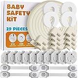 Locn 29 Piezas Kit Seguridad Bebe, 10 Protector Esquinas Niños,10 Seguridad Enchufes Bebes, 5 Metros Protector de…