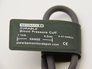 Durable Reusable Neonate Blood Pressure Cuffs Availabe in 5 Size , Also Good for Veterinary Use (Size 2 (4.2-7.1cm) (1.7-2.8 inch))