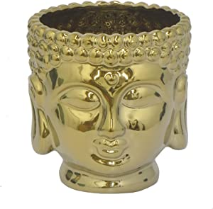 gold-small-buddha-head-flower-pot