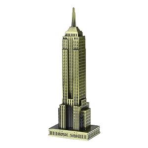 KLOUD City Vintage Bronze 7 Inch New York Statue of Empire State Building Model Statue Collectible Figurine Home Desktop Décor, Replica, Collectible Artificial World Famous Buildings Sculpture