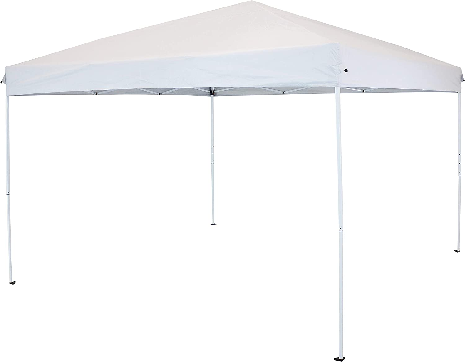 Sunnydaze 12 x 12 Foot Steel Frame Easy-Up Canopy with Carrying Bag - White - Instant Outdoor Portable Pop Up Tent Shelter - Perfect for The Garden, Patio, Backyard, Camp or Deck
