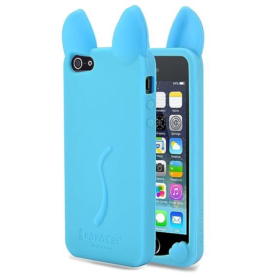 the best attitude ae189 f4ca4 Amazon.com: iPhone 5S case ITAMO Fashion Cute 3D Cat Ears Soft ...