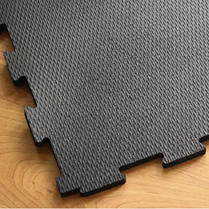Incstores Extra Large 4x4 Heavy Duty Rubber Gym Flooring Tiles 1