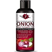 Seven Skies Onion Hair Growth Oil With Blend Of Essential Oils For Promotes Hair Growth - Controls Hair Fall & Dandruff For Men & Women 100mL
