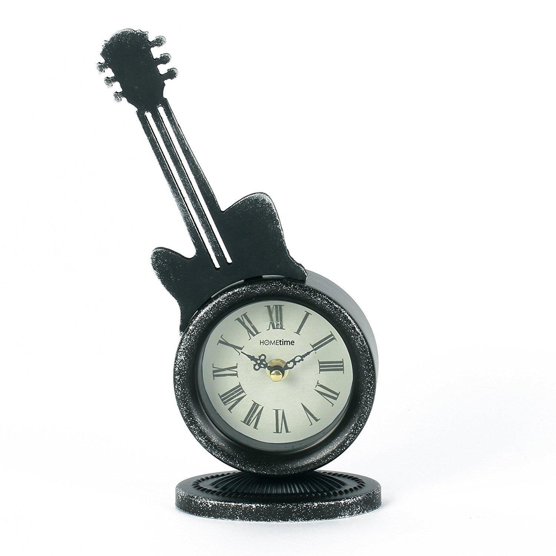 Metal Case Mantel Clock - Guitar Legends