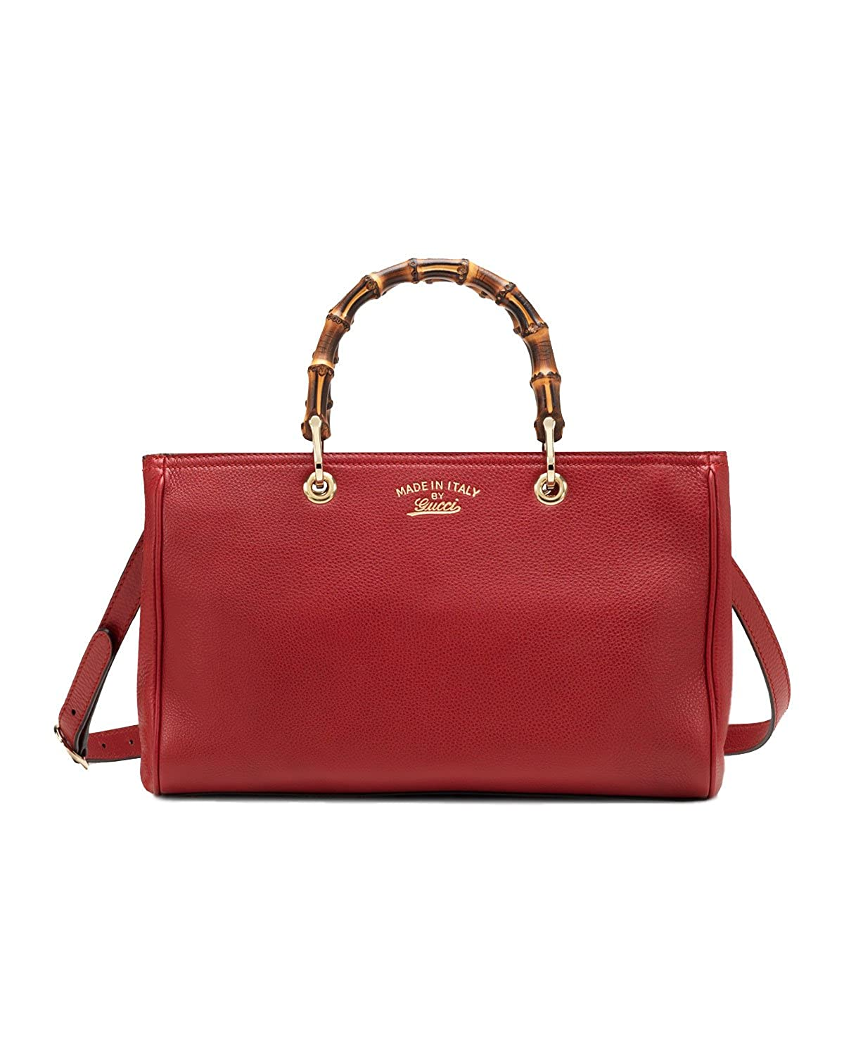 c84edc519b Gucci Bamboo Shopper Leather Tote Bag. (Red): Amazon.ca: Shoes ...