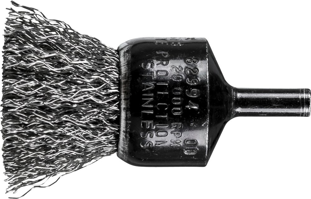1 Diameter .014 Wire Diameter PFERD 82994 Stem Mounted Crimped Wire Brush INOX 1 Diameter PFERD Inc. Pack of 10 Stainless Steel 20,000 rpm