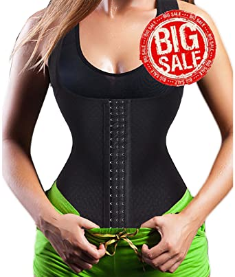 d2c0e8c374 Amazon.com  Ursexyly Tank Top Sweat Waist Trainer Vest Sauna Suit for  Fitness Exercise Weight Loss  Clothing