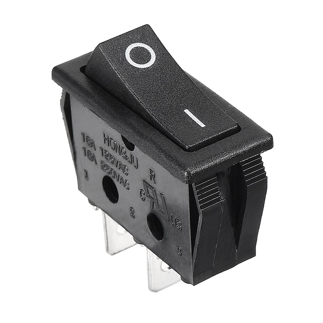 uxcell 2 Pcs AC 16A//250V On//Off SPST Panel Mount Snap In Boat Rocker Switch UL Listed a13010800ux0426