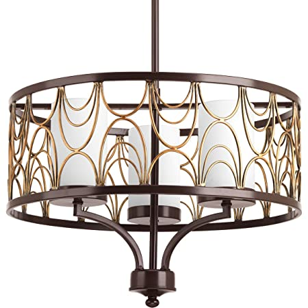 Progress Lighting P4699-20 3-100W Medium Base Chandelier, 79.5 x 18 x 13.5 , Antique Bronze