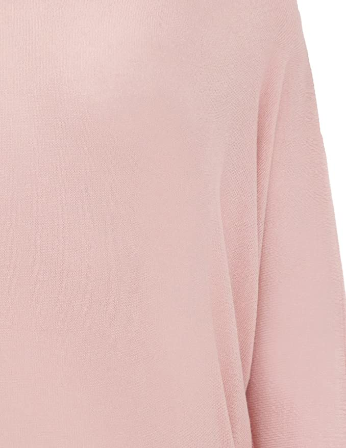 f7e2ed57276d56 Cade Soft Knit Pink Batwing Jumper: Amazon.co.uk: Clothing