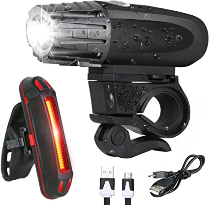 Waterproof LED Bike Bicycle Safety Front Tail Light Lamp Back Rear Flashlight TE