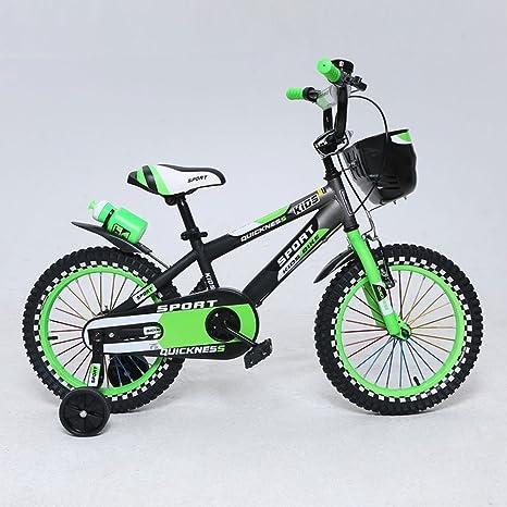 Esafekid Bicicleta de Seguros Durable Niños Niños de Bicicletas for niños y niñas, 12 14 16 Pulgadas con Ruedas de Entrenamiento + Hervidor: Amazon.es: Deportes y aire libre