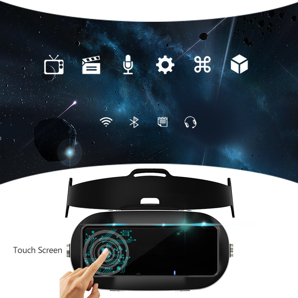 Docooler Virtual Reality Glasses VR All-in-one Machine 3D VR Headset 5.5Inch Touch Screen WiFi Bluetooth 4.0 w / Earphone Jack TF Card Slot US Plug by Docooler (Image #7)