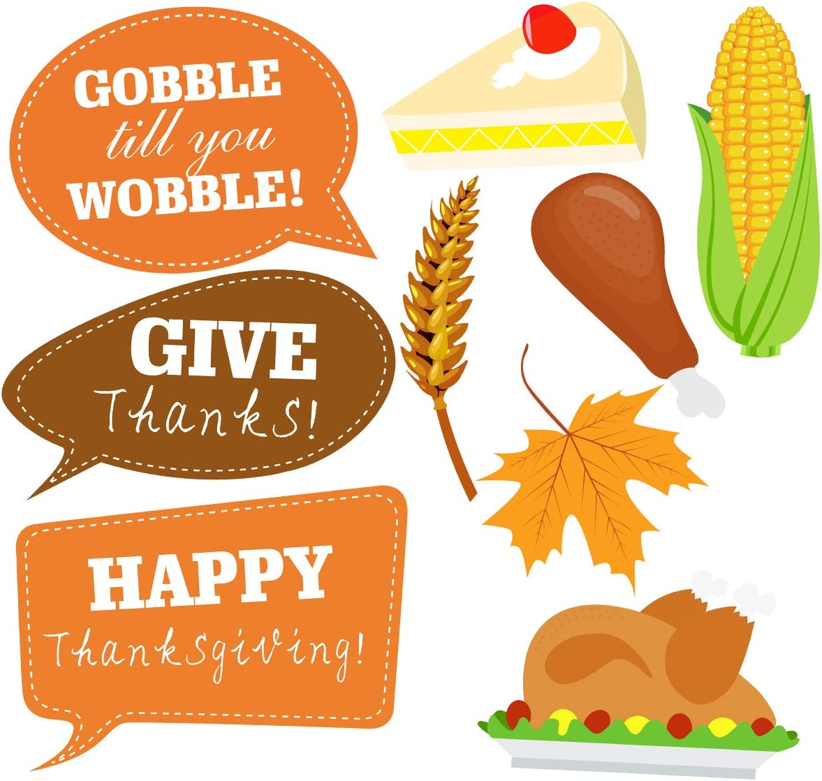 Thanksgiving Photo Booth Props Happy Thanksgiving Day Photo Prop Kit Decorations 34pcs