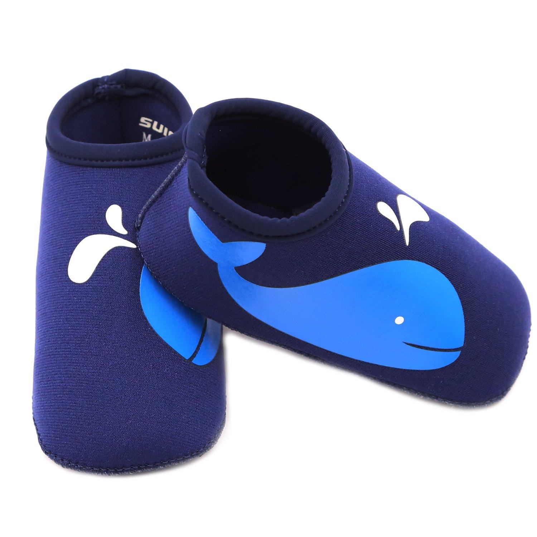 SUIEK Uni Baby Infant Swim Shoes Water Shoes Beach Shoes M Sole