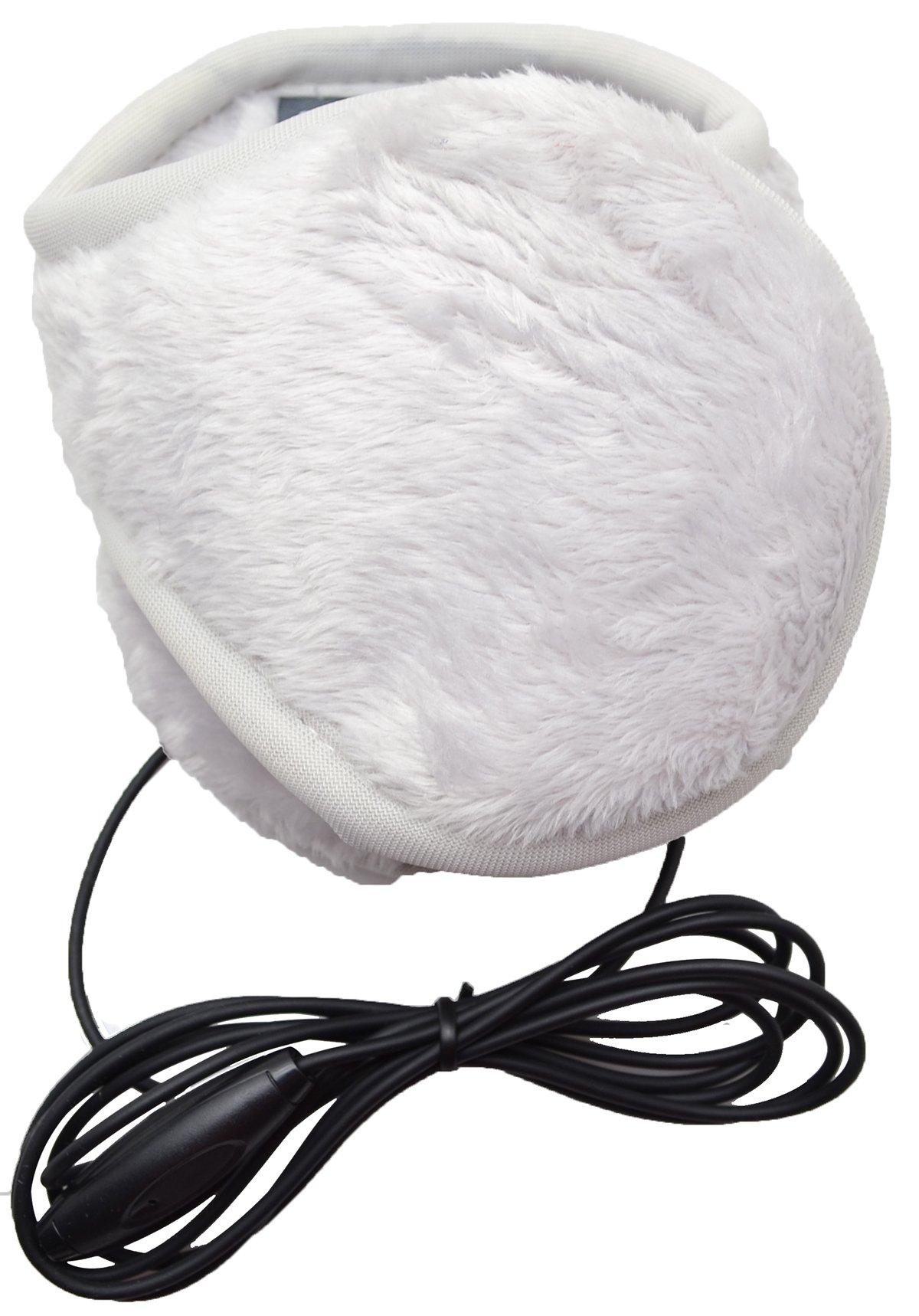 180s Women's Ear Warmers with Quantum Sound - Lush Fleece Frost Light Gray