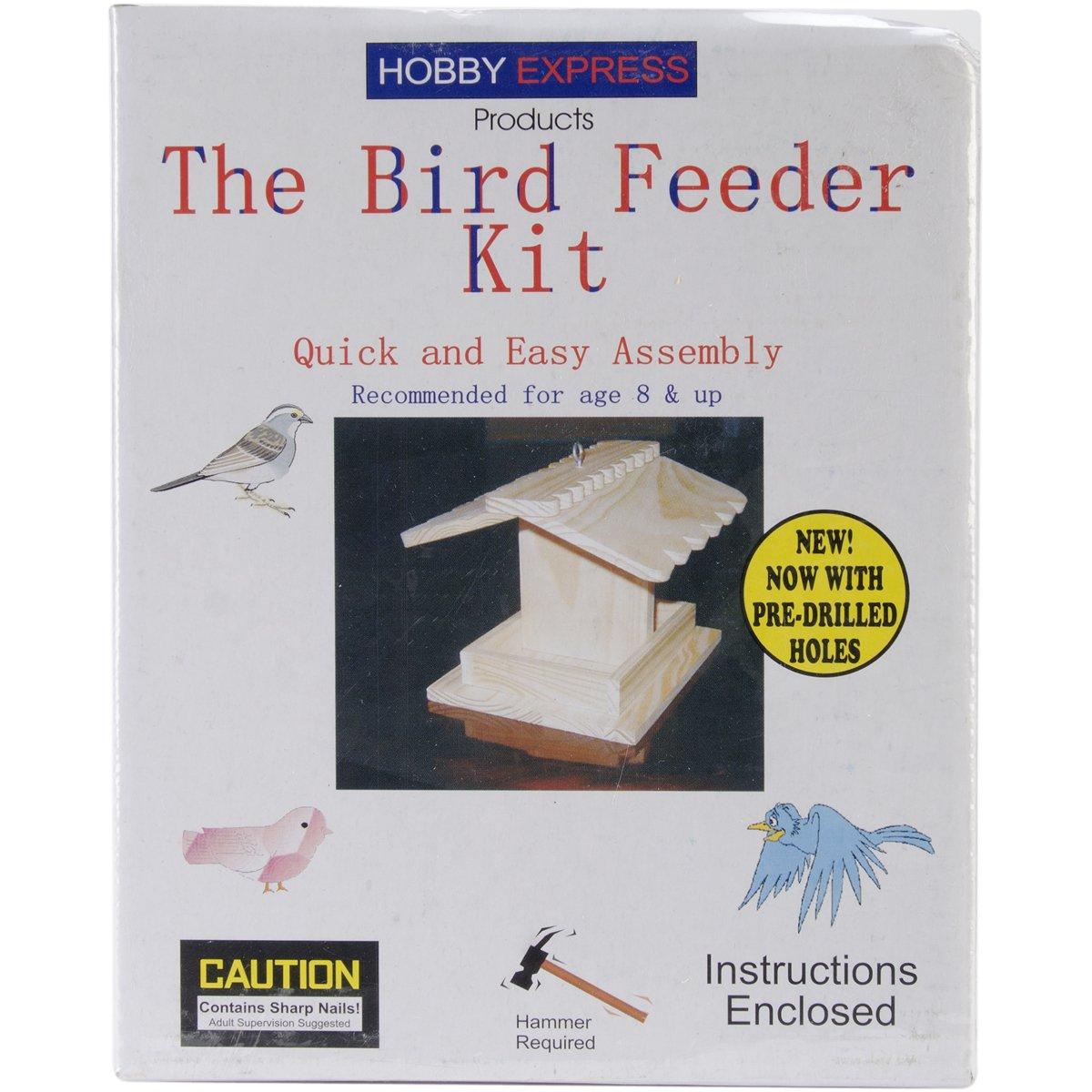 Pinepro 60001 Unfinished Wood Kit, Bird Feeder Notions