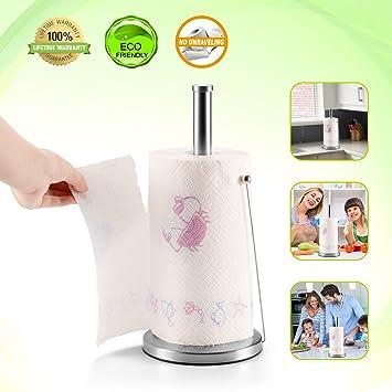 Soporte para toallas de papel, soporte para toallas de cocina, brazo ajustable, compacto