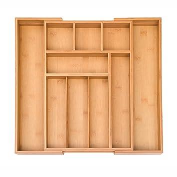 Amazon.com: Seville Classics – 3-Piece bambú ampliable 10 ...