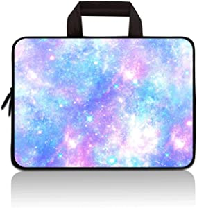 HYUTOTA 11 11.6 12 12.1 12.5 inch Laptop Carrying Bag Chromebook Case Notebook Ultrabook Bag Tablet Cover Neoprene Sleeve Fit Apple MacBook Air Samsung Google Acer HP DELL Lenovo Asus(Blue Galaxy)
