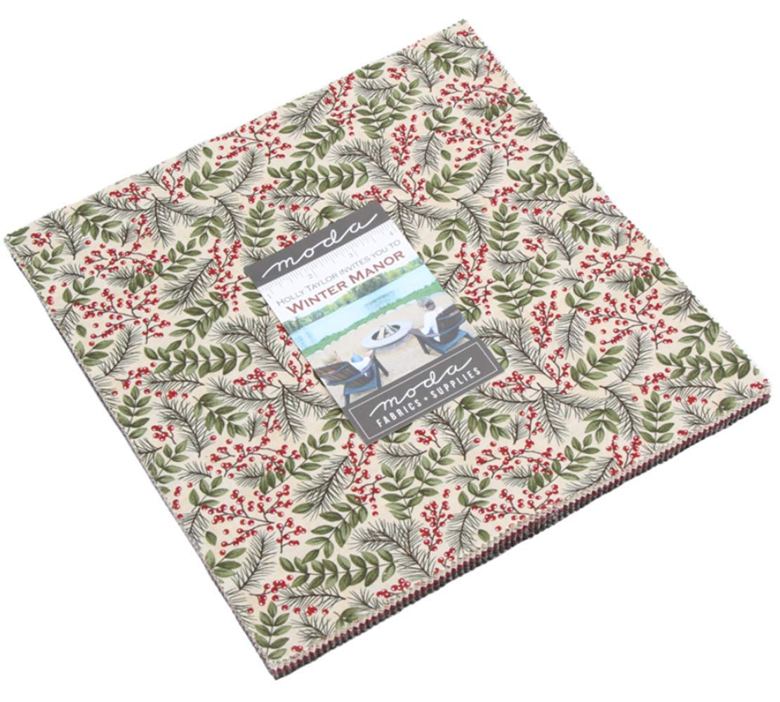 Winter Manor Layer Cake, 42-10'' Precut Fabric Quilt Squares by Holly Taylor by MODA