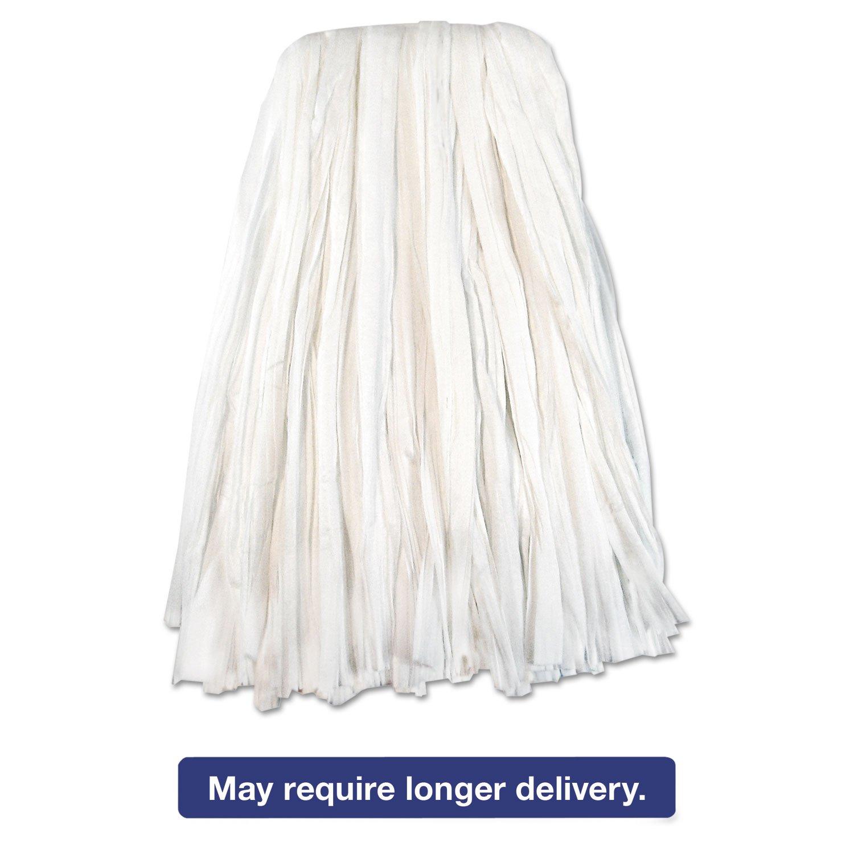 UNISAN Nonwoven Cut End Edge Mop, Rayon/Polyester, 20, White, 12/Carton by Unisan