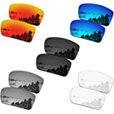 SmartVLT Set of 5 Men's Replacement Lenses for Oakley Gascan Sunglass Combo Pack S01