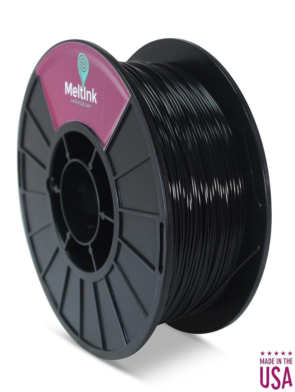 2.2 Lb Dimensional Accuracy: /± 0.05mm Black 1.75-PHA Made in USA MeltInk3D PHA-1KG175BLK05 Black PLA//PHA 3D Printer Filament /Ø 1.75mm 1Kg