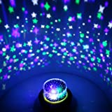 OxyLED Projector Night Light/Atmosphere Lamp/Ambient Light, 6 Light Modes & 5 Themes Projection Lamp for Halloween/Christmas/Birthday/Starry Sky/Sea World For Baby Kids Children