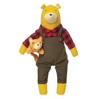 """Manhattan Toy Lemon The Bear + Kitty, Stuffed Animal Bear and Kitten, 16"""""""