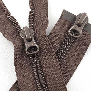 YKK Reißverschluss 2 Wege teilbar 5mm schwarzbraun 100 cm Metall Metallzähne