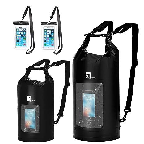 aa94a6e9e98a AiRunTech Waterproof Pouch with Waist Strap (2 Pack)