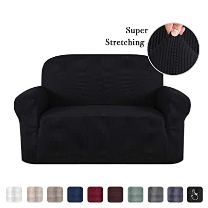 Jacquard Spandex Sofa Slipcover Furniture Cover/Protector for 2 Cushion  Couch 1 Piece Sofa Cover for Loveseat Machine Washable, Soft Stretch Skid  ...