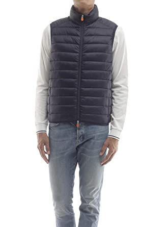 huge discount a9777 2acf9 Save The Duck Men's Gilet - - X-Large Navy Blue: Amazon.co ...