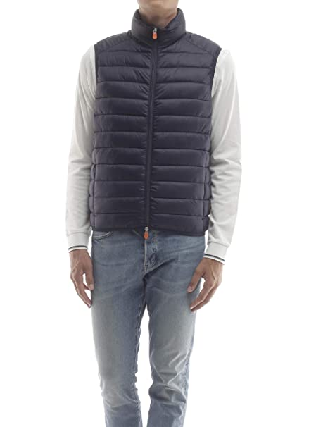 purchase cheap f95a8 8aae2 SAVE THE DUCK Gilet Uomo MOD. D8241 Navy Blue XL: Amazon.it ...