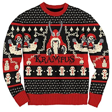 ripple junction krampus knit ugly christmas sweater adult small