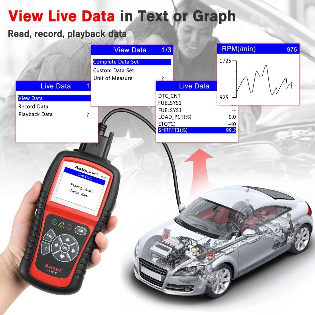 Autel AutoLink AL519 OBD2 Engine Universal Code Reader Scanner Diagnostic Tool