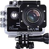 「SJCAM正規品」SJ5000X スポーツカメラ WiFi搭載 30m防水 170度広角レンズ  4K 1080P 液晶画面 HD動画対応 ハルメット式 バイクや自転車、カートや車に取り付け可能(ブラック)