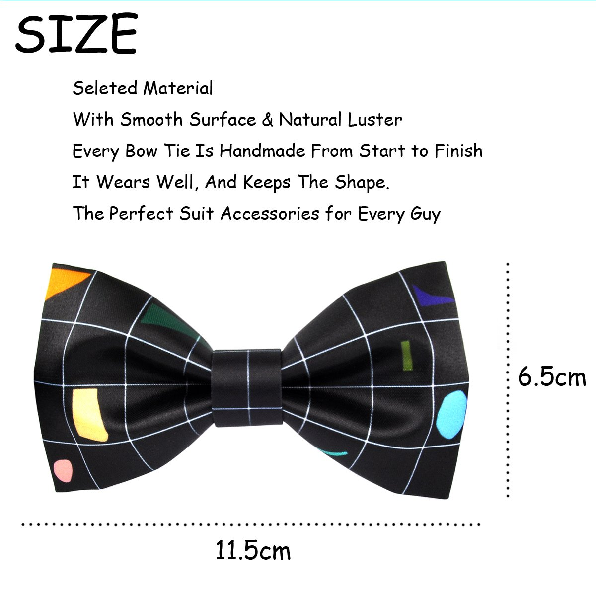 100/% Satin Silk Mens Pre-tied Bowtie Solid Bow Ties-Flowers and Birds Series