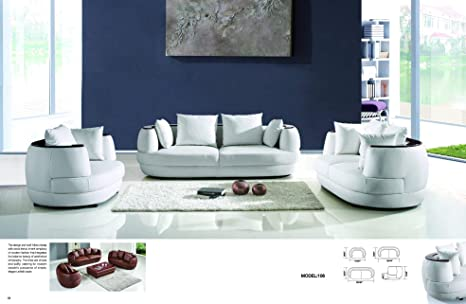 Amazon.com: My Aashis Sofa Set 3 + 2 + 1 Seats in Leather ...