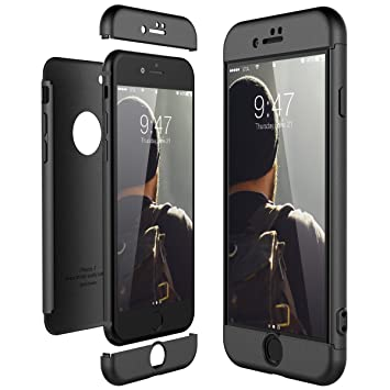CE-Link Funda para Apple iPhone 7 Rigida 360 Grados Integral, Carcasa iPhone 7 Silicona Snap On Diseño Antigolpes Choque Absorción, iPhone 7 Case ...