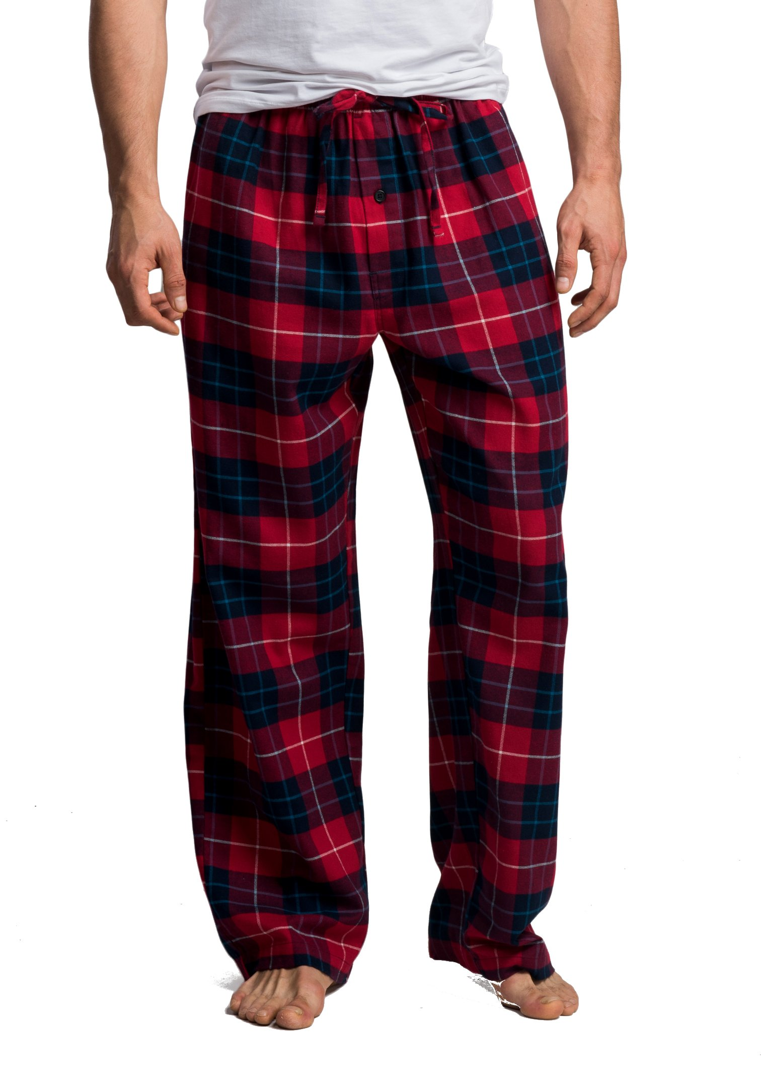 CYZ Men's 100% Cotton Super Soft Flannel Plaid Pajama Pants-F17015-L by CYZ Collection (Image #1)