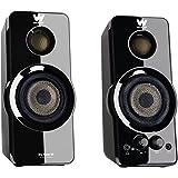 Woxter Big Bass 95 - Altavoces Multimedia 2.0 (Potencia 20 W, Botones Frontales con Control De Sonido), color negro