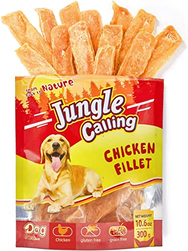 Jungle Calling Dog Food,Chicken Breast,Chicken Jerky Dog Treats for Small Dogs and Adult Dogs Chewy Treats,300g